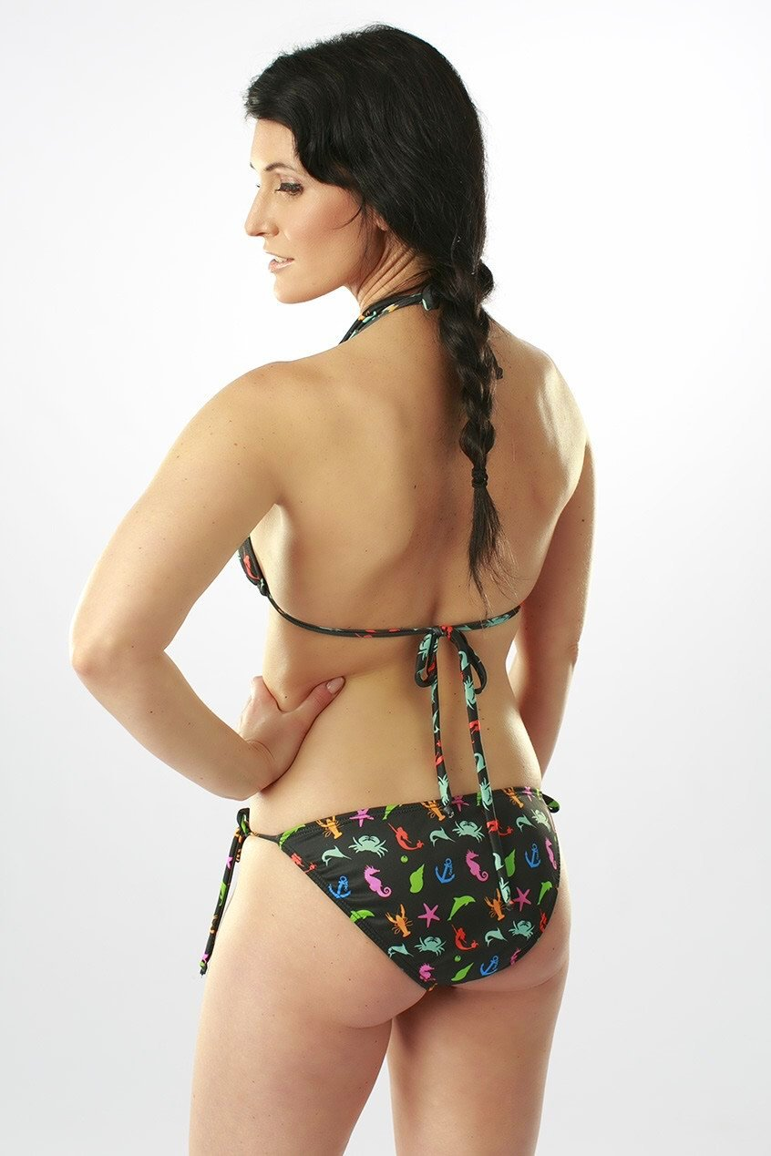 Rainbow Sea Handmade Bikini Top -  - 3