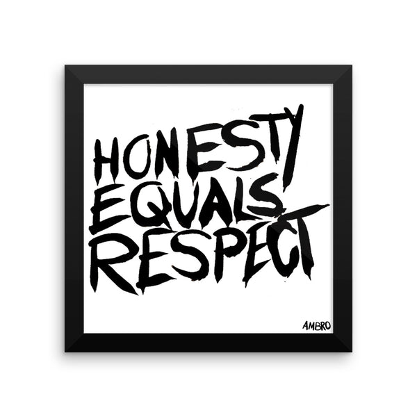Honesty Equals Respect