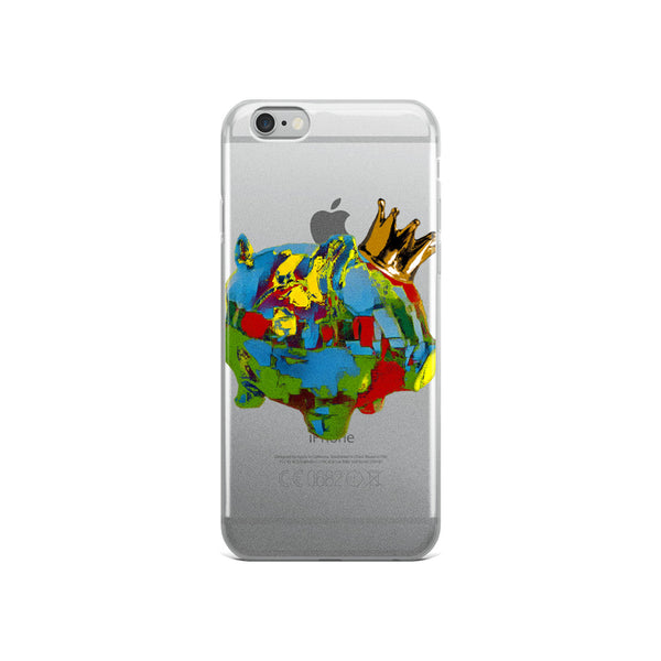 Painter King Piggy iPhone Case