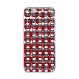 Red Hearts & Skulls Poison Love iPhone Case