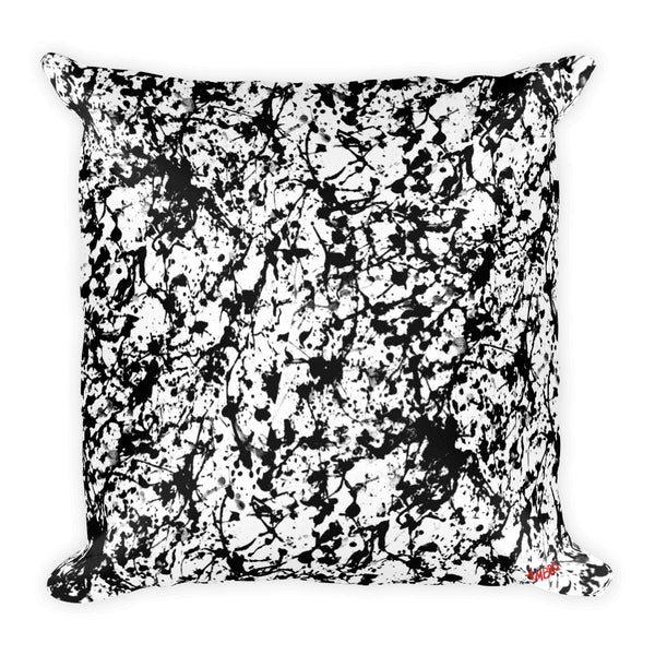 Noir Film Static Square Pillow