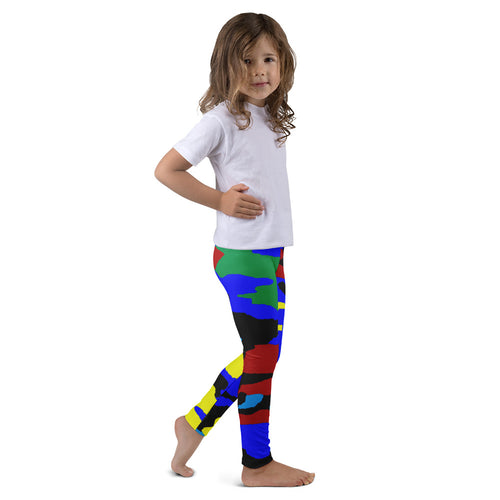 Blue, Green, Yellow AMBRO Print Kid's Leggings