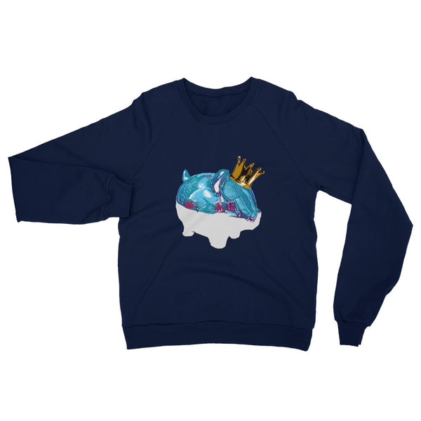 Frozen King Piggy Unisex California Fleece Raglan Sweatshirt