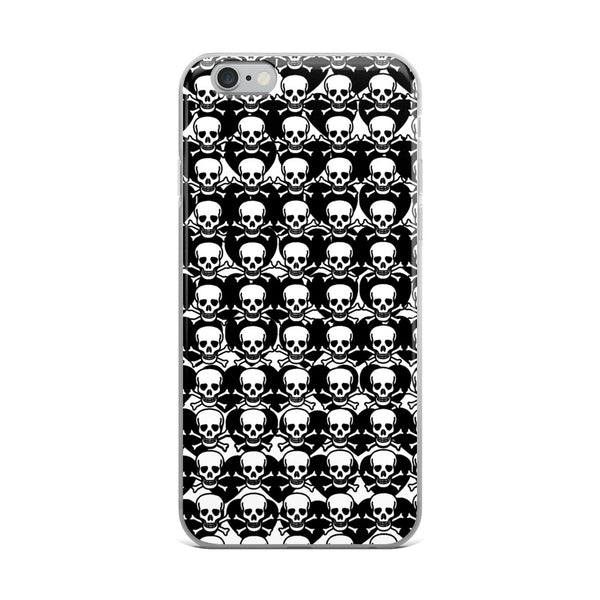 Black Hearts & Skulls PLTH  iPhone Case