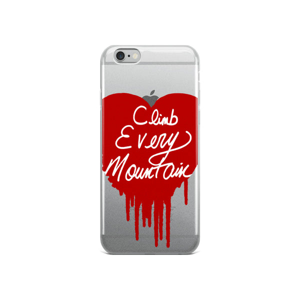 Climb Every Mountain iPhone Case