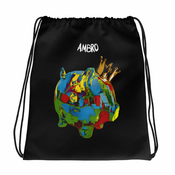 Painter King Piggy Drawstring bag