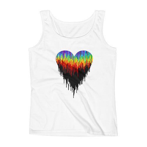Psychedelic Heart Women's Loose Fit Tank