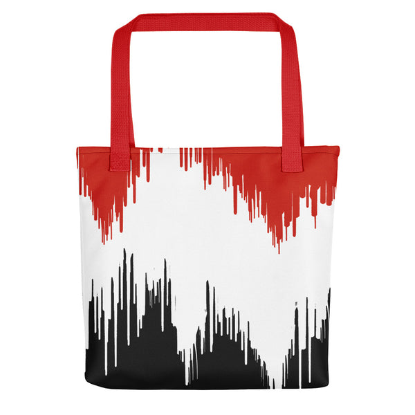Red, White & Black Paint Drip Tote bag