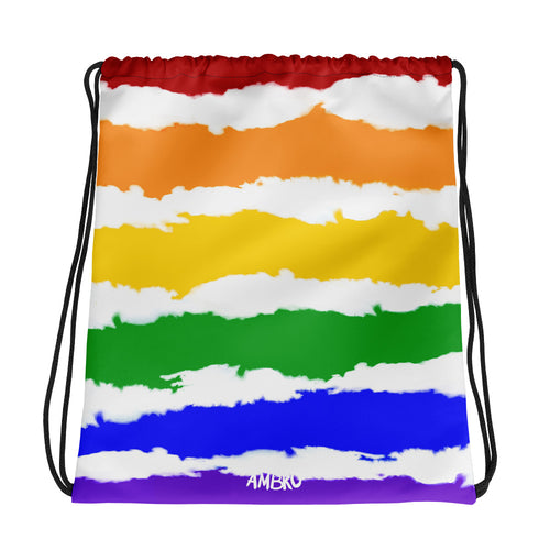 Psychedelic Skies Workout Drawstring Pouch
