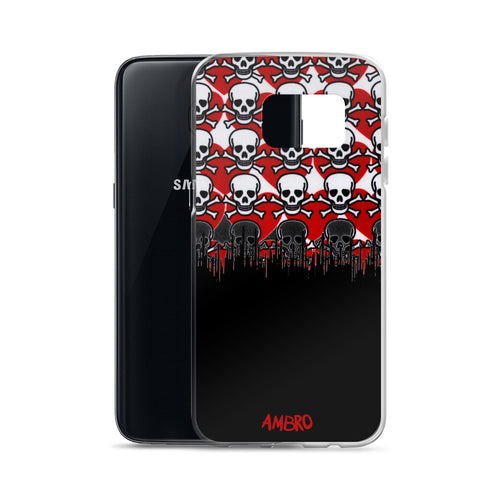 Skulls & Red Hearts Samsung Case