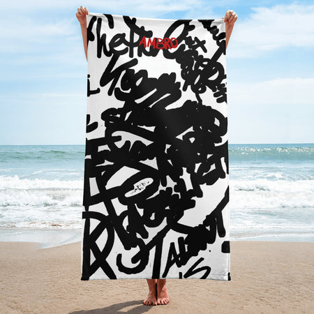 Hypnotic Ambro Spiral Beach Blanket