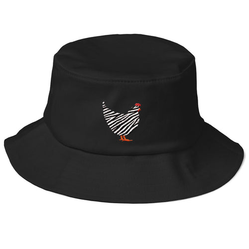 Barred Rock Old School Gardeners Bucket Hat