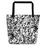 Noir Film Static Beach Bag