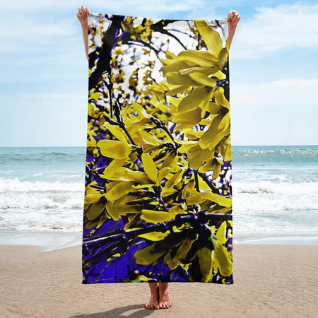 Stained Glass Ambro Print Beach Towel