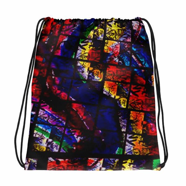 AMBRO Print NY Chapel Glass Drawstring bag