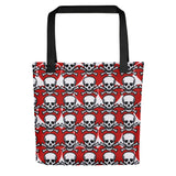 Red Hearts & Skulls Poison Love Tote bag