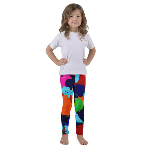 Tropical Sea Glass AMBRO Print Kid's Leggings