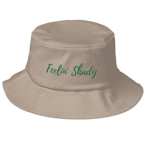Khaki Old School Gardeners Bucket Hat