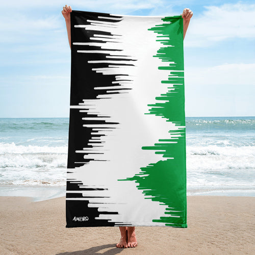 Lime Green Drip AMBRO Beach Towel