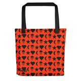 Ambro Orange Universe Tote Bag