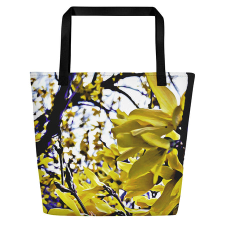 Yellow Crescent Moon Tote Bag