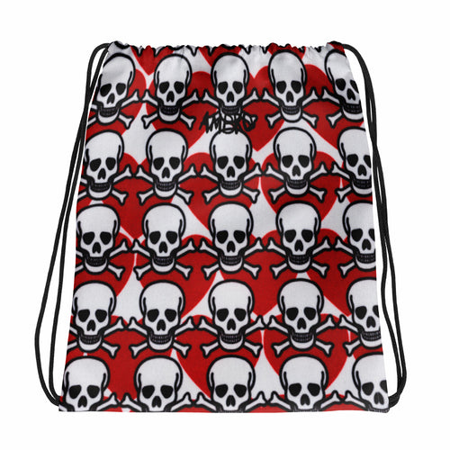 AMBRO Print Poison Love Drawstring bag