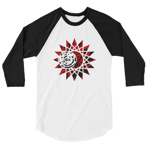 """Journey To Totality"" Eclipse Chaser 3/4 Sleeve Black & White Raglan Shirt"