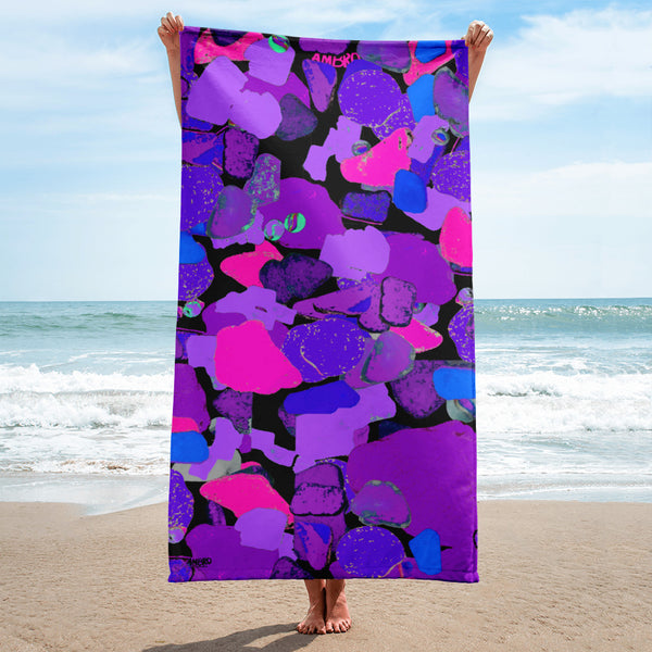 Ultra Violet Sea Glass Beach Towel