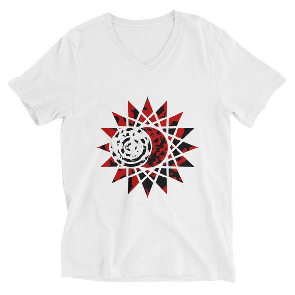 Eclipse Unisex Short Sleeve V-Neck T-Shirt