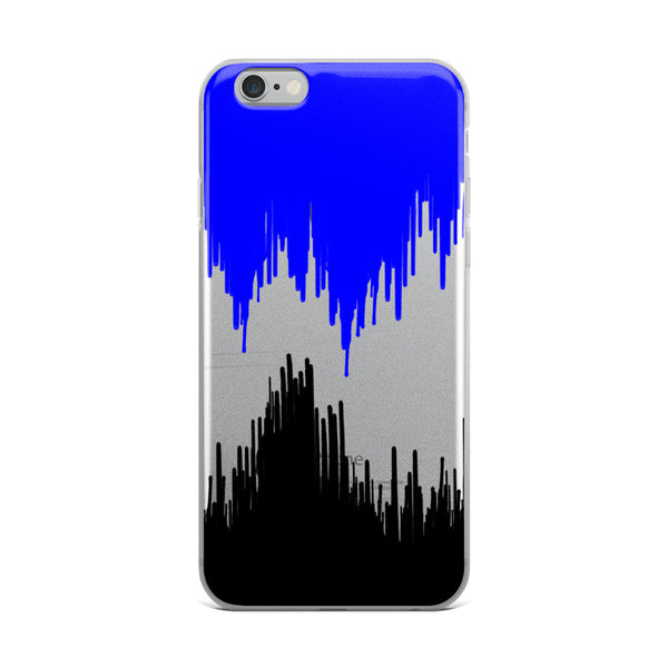 Black &Blue Paint Drip iPhone Case