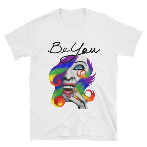 "AMBRO O'Leary Mantra Designer Art Tee ""Be You"" in White"