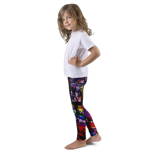 NY Rainbow Chapel Glass AMBRO Print Kid's Leggings