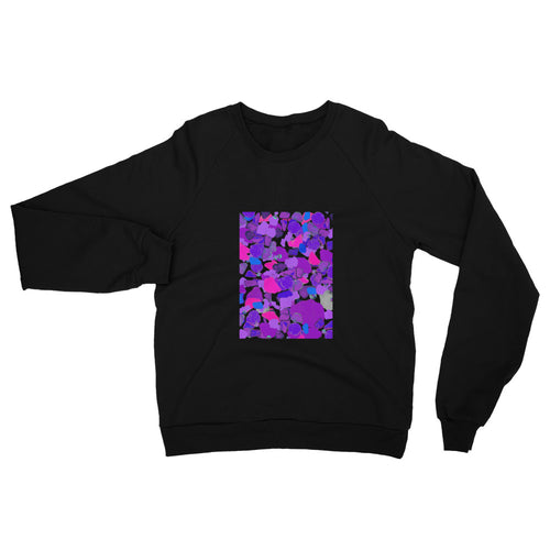 Ultra Violet Sea Glass Unisex California Fleece Raglan Sweatshirt