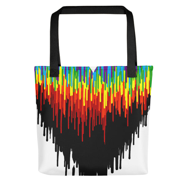 Psychedelic Heart Tote bag