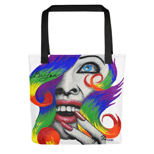 "AMBRO O'Leary Mantra Designer Art Tote ""Be You"""