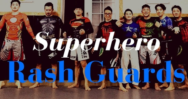 Superhero BJJ Rash guards