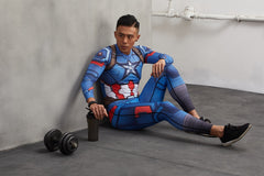 captain america compression shirt and spats