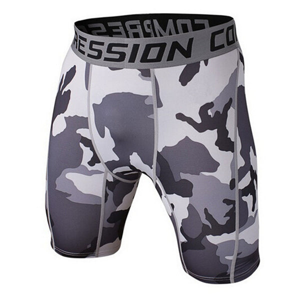 BJJ Compression Shorts - Dark Camo