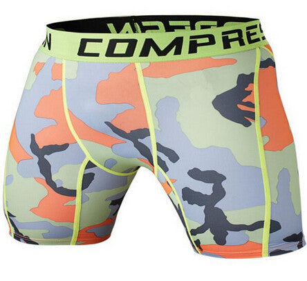 BJJ Compression Shorts - Fall Camo