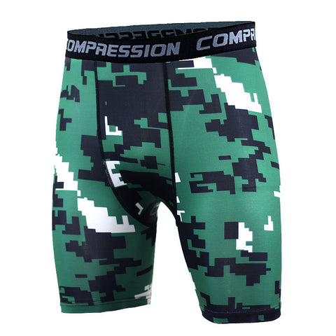 BJJ Compression Shorts - Green Digital Camo