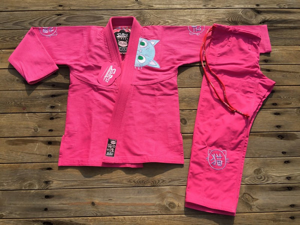 Sunrise Combat Gear Women's Cat BJJ Gi - Pink