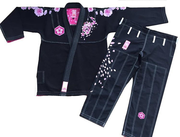 Sunrise Combat Gear Women's Cherry Blossom BJJ Gi - Black