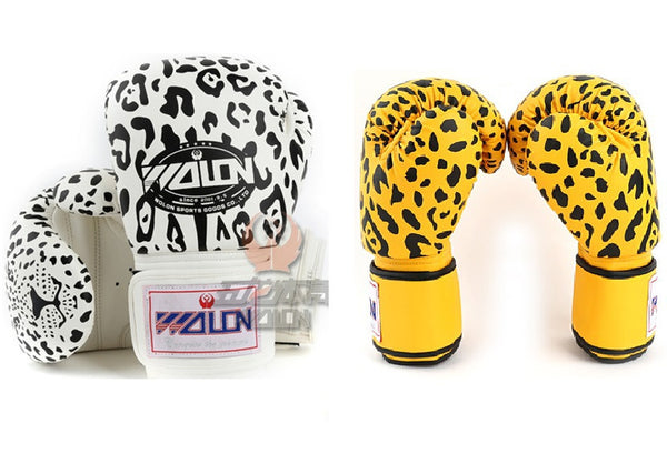 Wolon Leopard Boxing Bag Gloves
