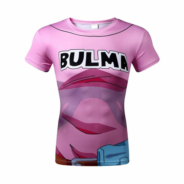 DBZ Bulma Short-Sleeve Compression Shirt