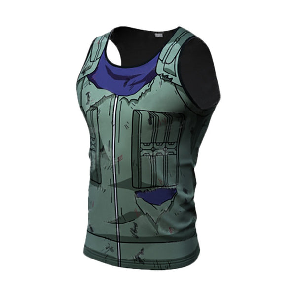 Batte Damaged Kakashi Compression Tank Top