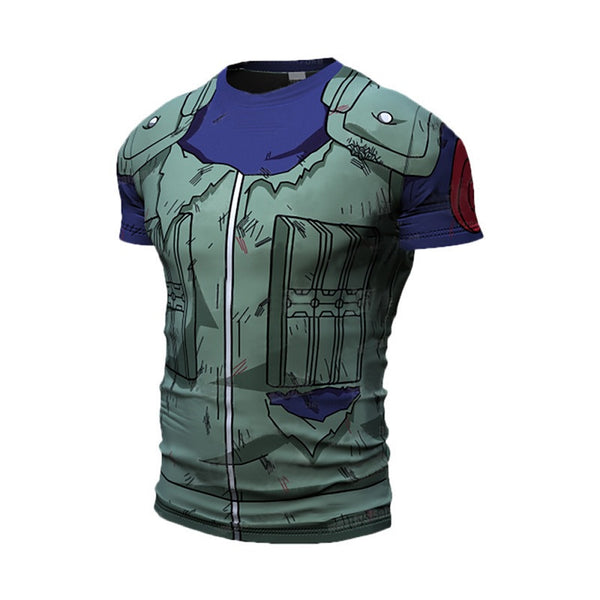 Battle Damaged Kakashi Compression Shirt - Short Sleeve
