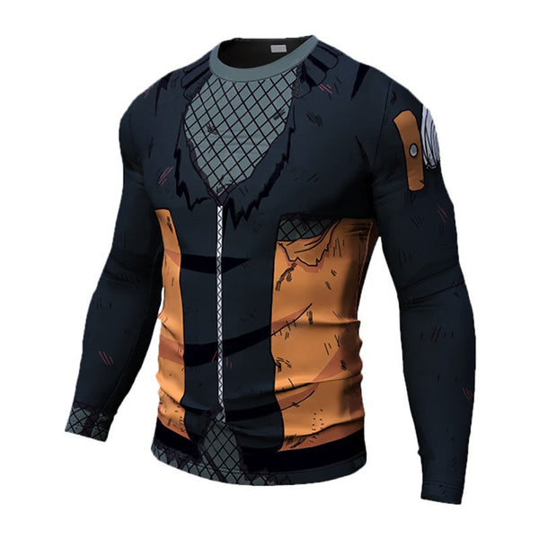 Battle Damaged Naruto Compression Shirt - Long Sleeve