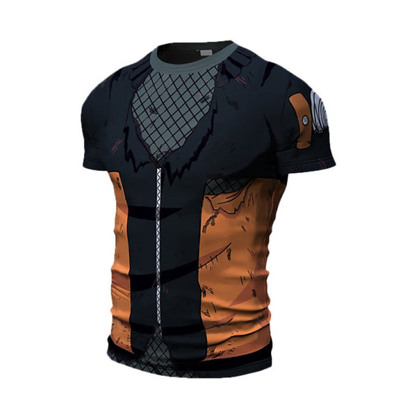 Battle Damaged Naruto Compression Shirt - Short Sleeve