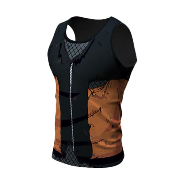 Battle Damaged Naruto Compression Tank Top