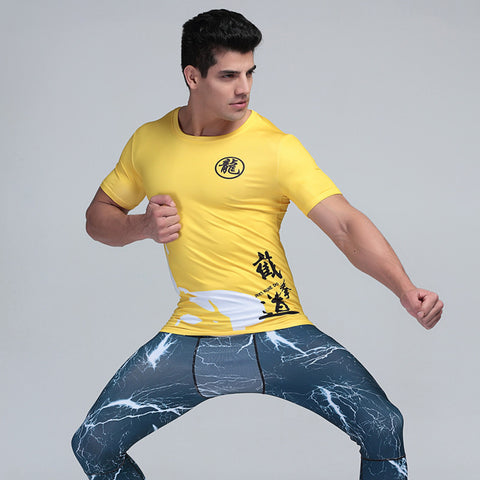 Bruce Lee Short-Sleeve Compression Shirt